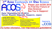 1st Asian Conference on Oleo Science